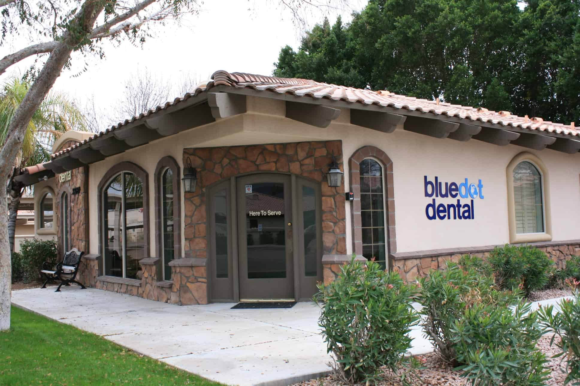 BlueDot Dental office front door