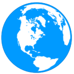 Blue globe logo